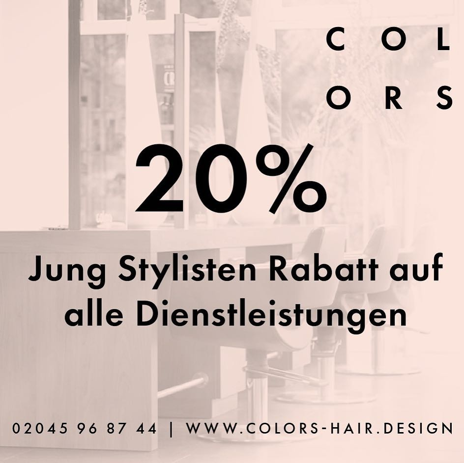 Colors Hairdesign Youngstylisten Rabatt